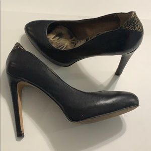 Sam Edelman Black Leather Heels Sz 6.5M